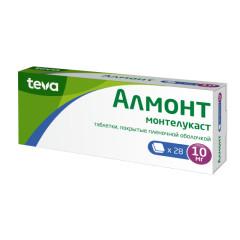 Алмонт таблетки п.о 10мг №28