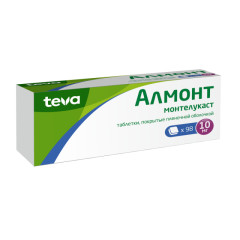Алмонт таблетки п.о 10мг №98 купить в Москве по цене от 2630 рублей