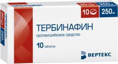 Тербинафин таблетки 250мг №10