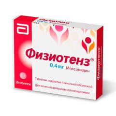 Физиотенз таблетки п.о 0,4мг №28 купить в Москве по цене от 852.5 рублей