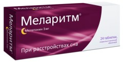 Меларитм таблетки п.о. 3мг №24