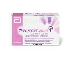 Фемостон мини 2,5мг + 0,5мг таблетки п.о №28 купить в Москве по цене от 1190 рублей