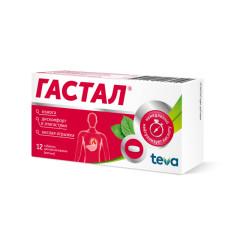 Гастал таблетки для рассасывания №12 (мятные)