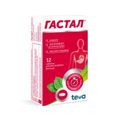 Гастал таблетки для рассасывания №12 (мятные) купить в Москве по цене от 185 рублей