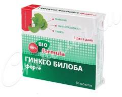 Гинкго Билоба Форте таблетки 460мг №60
