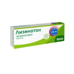 Лизинотон таблетки 10мг №28 купить в Москве по цене от 151 рублей