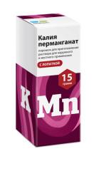 ПКУ Калия перманганат порошок с лопаткой 15г купить в Москве по цене от 160 рублей
