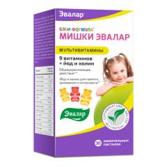 Бэби Формула Мишки Мультивитамины пастилки жевательные Эвалар №30