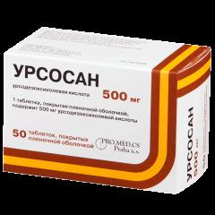 Урсосан таблетки п.о. 500мг №50