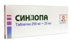 Синдопа таблетки 250мг + 25мг №50