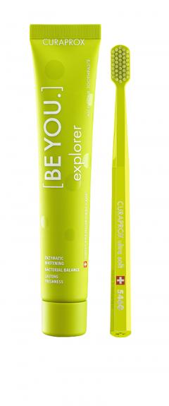 Курапрокс набор зубная паста яблоко/алоэ 90мл+з/щетка Ультрасофт Be You Green set