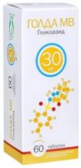 Голда МВ таблетки с модифицированным высвобождением 30мг №60