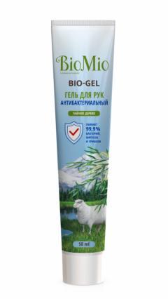 БиоМио гель для рук Био-Гель чайное дерево антибактериальный 50мл