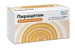 Пирацетам таблетки п.о 200мг №60