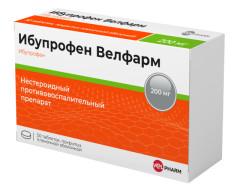 Ибупрофен Велфарм таблетки п.о 200мг №50