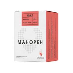 Манорен таблетки шипучие 4г персик-маракуйя №20
