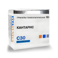 Кантарис С-30 гранулы 10г купить в Москве по цене от 191 рублей