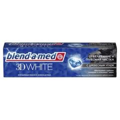 Бленд-а-мед зубная паста 3Д Уайт Глуб.чистка уголь 100мл