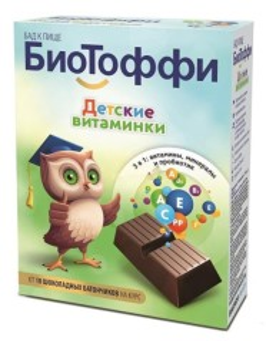 БиоТоффи Детские витаминки батончик 5г №10