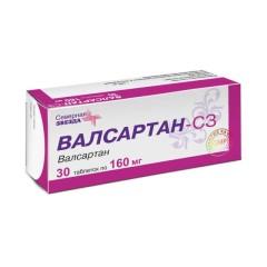 Валсартан-СЗ таблетки п.о 160мг №30