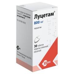 Луцетам таблетки п.о 800мг №30 купить в Москве по цене от 64 рублей