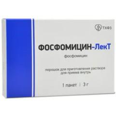 Фосфомицин-ЛекТ порошок для приготовления раствора внутрь 3г №1