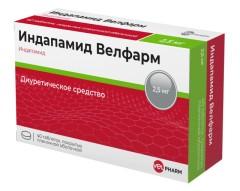 Индапамид Велфарм таблетки п.о 2,5мг №40