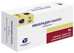 Ивабрадин Канон таблетки п.о 5мг №56