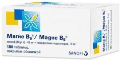 Магне B6 таблетки п.о №180