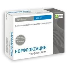 Норфлоксацин таб п.о 400мг №20