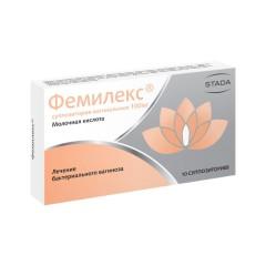 Фемилекс суппозитории вагинальные 100мг №10