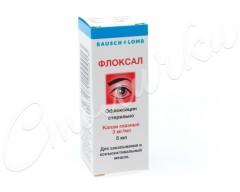 Флоксал капли глазные 0,3% 5мл