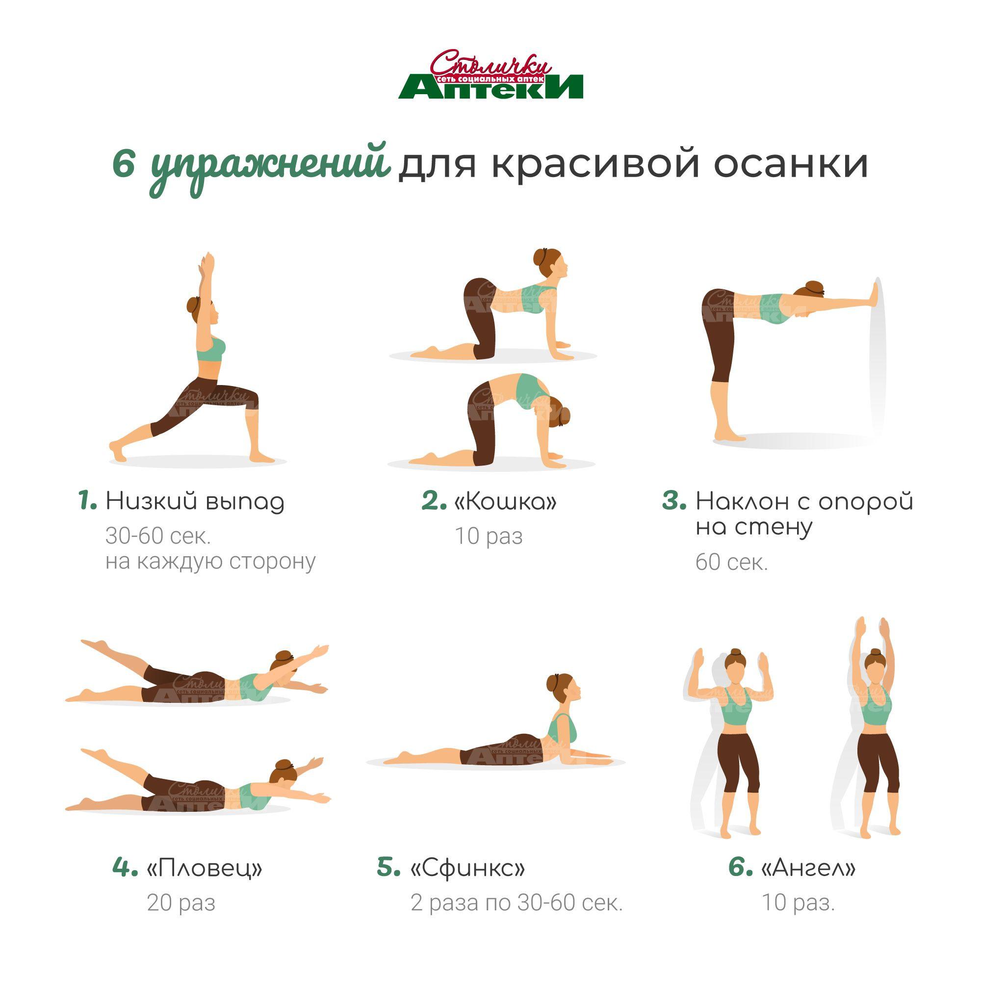 6 упражнений для красивой осанки